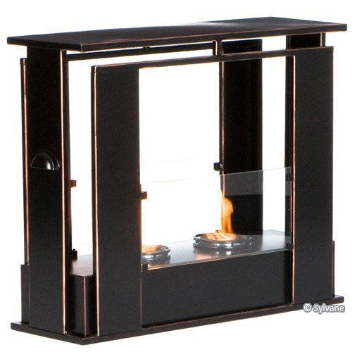 Holly & Martin Walton Portable Indoor/Outdoor Gel Fireplace in Black w/ Cooper Accent photo B00917U39G.jpg