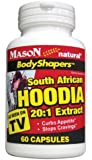 MASON NATURAL - South African HOODIA 20:1 EXTRACT 60 per bottle (SINGLE BOTTLE)