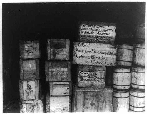 Photo: Cigarettes,Tobacco,Various Enterprises,Quartermaster,Distribution,France,1918