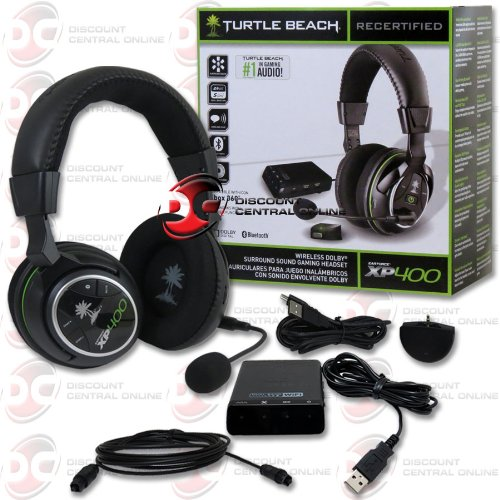 Refurbished Turtle Beach Ear Force Wireless Dolby Surround Sound Headphones For Xbox 360 And Ps3 With Dual-Band Wifi Reduces Interference From Wifi Networks And Dual Pairing Bluetooth