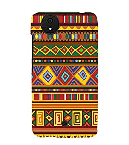 Rangoli Design Pattern 3D Hard Polycarbonate Designer Back Case Cover for Micromax Android A1 :: Micromax Canvas A1 AQ4502
