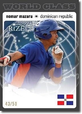 2012 RIZE Draft World Class BLACK Paragon Card #WC-14 Nomar Mazara - Texas Rangers (Rookie / Prospect Insert) / Dominican Republic (Serial #d to 50) MLB Baseball Trading Cards