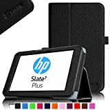 Fintie HP Slate 7 Plus (Model 4200) Folio Case - Premium Leather Stand Cover with Stylus Loop for HP Slate 7 Plus Android Tablet (3 Year Manufacturer Warranty) - Black