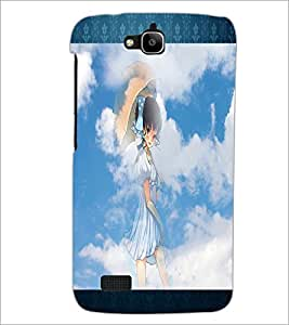 PrintDhaba Lovely Girl D-2493 Back Case Cover for HUAWEI HONOR HOLLY (Multi-Coloured)