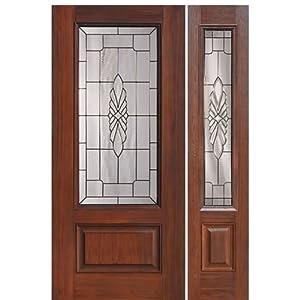 Fiberglass Door 1 Panel 3 4 Lite Versailles 1 1 Glasscraft