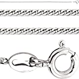 Jewelco London Rhodium-Plated Sterling Silver Curb Chain