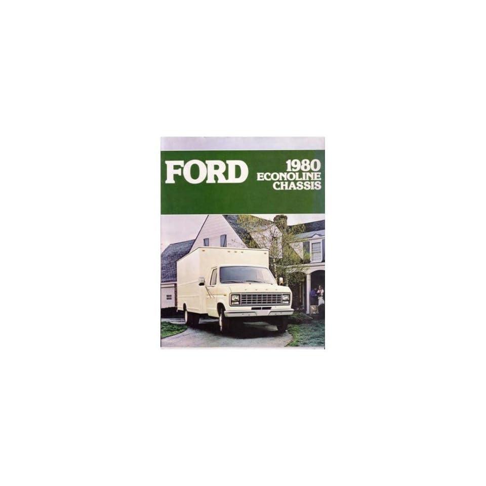 1980 Ford Econoline Sales Brochure Literature Advertisement Options Specs