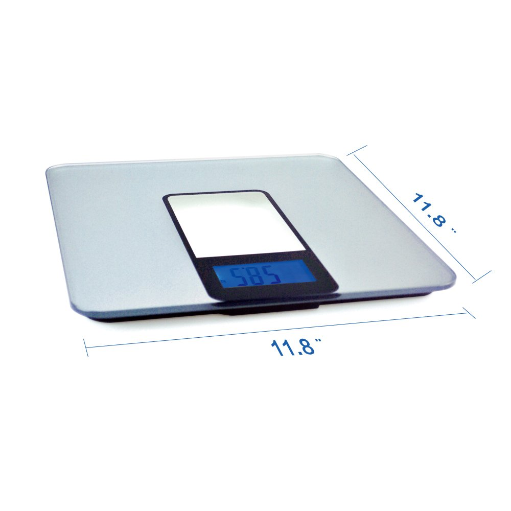 BESTEK® BTBC001 Blue Backlit LCD Display Electronic Glass Body Scale