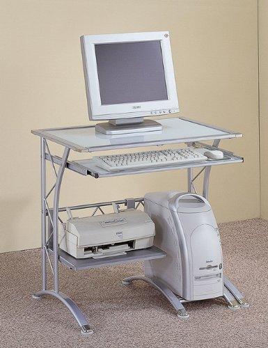 Buy Low Price Comfortable Contemporary Computer Desk In Silver (B000JI2SOO)