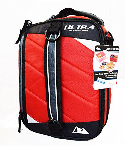 Why Choose Arctic Zone Ultra High Performance Expandable Double Capacity Lunch Pack (red)