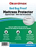 """Guardmax - Bedbug Proof/Waterproof Mattress Protector Cover - Zippered Style - Quiet! - Full Size (54""""x75""""x11"""")"""