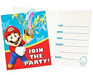Super Mario Party Invitations (8) by Party Destination