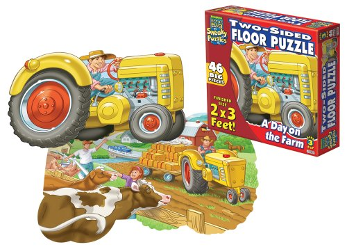 Cheap Fun Patch Sneaky 2 Sided Floor Puzzle A Day on the Farm (B001GB2ZBY)