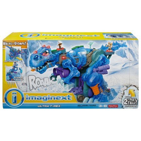 Kids Fisher-Price Imaginext+Ultra T-Rex in Blue, 3 Power Pads To Bring Ice Dino Roaring To Life (Fisher Price Ice compare prices)