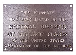 National Register Colonial Style Bevel Plaque