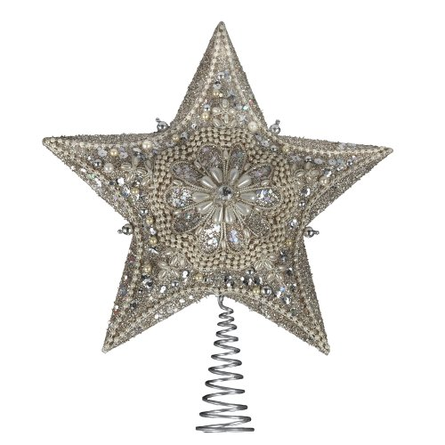 Kurt Adler Star Treetop with Pearls