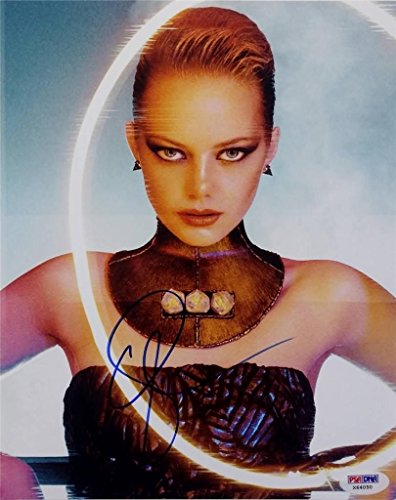 Emma Stone Signed 8x10 Photo PSA/DNA Amazing Spider Man Superbad Auto C