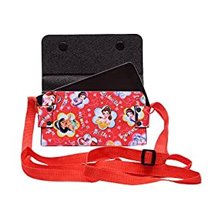 Colorkart Printed Mobile Pouch Handbag With Adjustable Strip For Wiko U Feel Prime Mobile Phone (Synthetic Leather, Red)