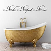 Relax Refresh Re (M) Wall Saying Vinyl Lettering Home Decor Decal Stickers Quotes from Wall Sayings Vinyl Lettering