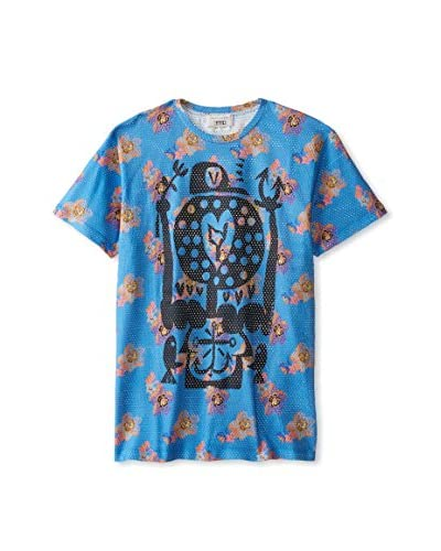 Marc Jacobs Men's Large Floral Printed Crew Neck T-Shirt