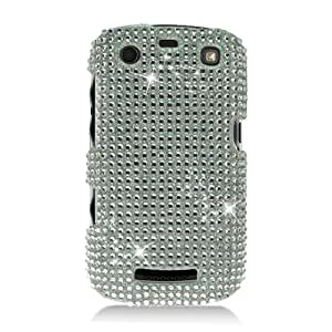 Eagle Cell PDBBAPOLLOF377 RingBling Brilliant Diamond Case for BlackBerry Curve 9360/9370/9350 - Retail Packaging - Silver