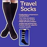 Graduation Compression Black Travel Flight Socks SIZE 4-7 MEDIUM