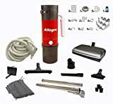 central vacuum complete electric package with allegro unit 3 inlet kit  80 ft pipe