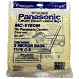 PANASONIC MC-V150M 3-Pack of Vacuum Bags