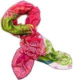 Desigual Damen Pashmina PAÑU_FLOREADA, Animalprint, Gr. One size (Herstellergröße: U), Rot (Fresa)