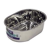 パール金属  アクアシャイン ステンレス製 スリム小判型 洗桶 37.5×25.5cm H-6273