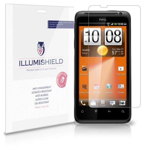 HTC EVO Design 4G Screen Protector (Boost Mobile)[3-Pack], iLLumiShield - Japanese Ultra Clear HD Film with Anti-Bubble and Anti-Fingerprint - High Quality Invisible Shield - Lifetime Warranty (Boost Mobile Htc Evo Design 4g compare prices)