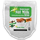 BRAND NEW Nut Milk Bag by Everyday Kitchen Essentials - Premium Reusable Mesh Nylon Strainer - Awesome For Making Homemade Almond Milk - Organic Nut Milks - Excellent Food Grade Filter - Food Strainer - Filter Bags - Fine Mesh Strainer - Mesh Filter And Multi-Purpose Kitchen Tool For Juicing - Lifetime Money Back Guarantee