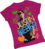 Justin Bieber -- Felt Pen Remix -- Fitted Crop Sleeve Girls T-Shirt