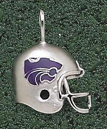 Kansas State Wildcats Enamel Power Cat Helmet Pendant - 14KT Gold Jewelry by Logo Art