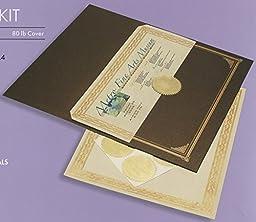 Geographics Metallic Presentation Award Certificate Kit, 8.5 x 11 Inches, Bronze Gold Foil, 18-Sheet Pack (47193)