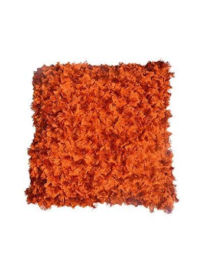 Cloud 9 Bow-Shaped Shag Throw Pillow, Orange