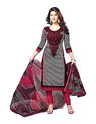 Samskruti Unstiched Cotton Printed Dress Material - B00PQXRKF4