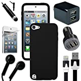 Apple Ipod Accessory Kit – Celkits ¨ 7 Piece Accessory Bundle. Compatible With: Apple iTouch 5 iPod Touch 5th Gen Black Gel Skin, USB Car Charger Plug, USB Home Charger Plug, USB 2.0 Data Cable, Metallic Stylus Pen, Stereo Headset & Screen Protector (7 Items) Retail Value: $89.95 Reviews