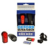 Oxford OF404 5 LED Front Bike / 7 LED Rear Cycle Light Set - Supplied With Batteries & Brackets