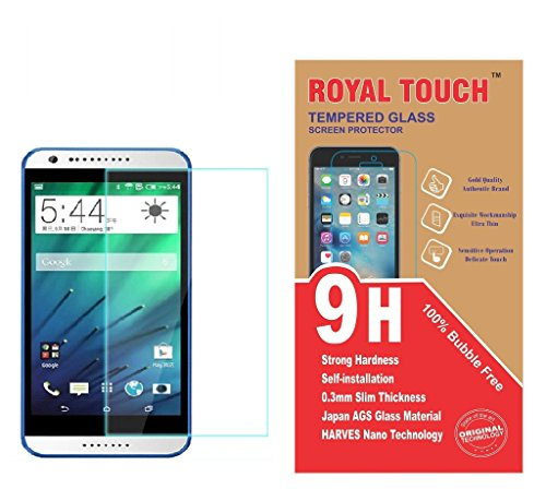 Royal Touch Bubble Free Japanes AGC HTC Desire 816 TEMPERED GLASS SCREEN PROTECTOR / BUBBLE FREE APPLICATION / HOLE FOR FRONT PROXIMITY SENSOR / NO HANGING PROBLEM / HIGH QUALITY JAPANESE AGC GLASS MATERIAL / 0.3MM SLIM THICK / 2.5D CURVED EDGE  available at amazon for Rs.149