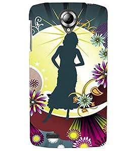 PRINTVISA Abstract Girl Case Cover for Lenovo K820