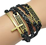 GURAIO Fashion Lady Strands Suede Rope Bracelet Gift