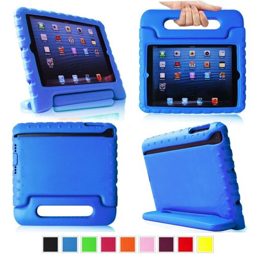 TCD iPad Air Blue Foam Child Shock Proof Handle Kid Toddler Case Protective Stand (Ipad Blue Case compare prices)