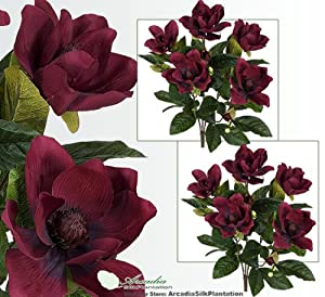 2 New 12in Potted Pink Lavender Bushes Artificial Silk Flowers Plants OFFER!