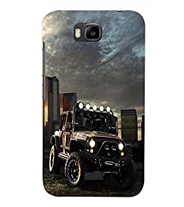 PRINTSHOPPII JEEP CAR Back Case Cover for Huawei Honor Bee::Huawei Y5C