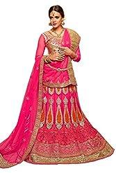Silvermoon women's Net Embroidered heavy lehenga choli-sm_NMMJA7003B_Pink_free size
