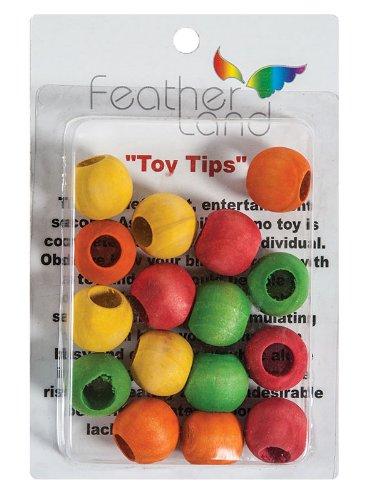 3 4 In Octagon Bird Toys : Paradise inch wood beads bird toy animals pet supplies