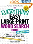 The Everything Easy Large-Print Word...