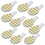 10 Pcs T10 Car RV Warm White 24 LED 3...