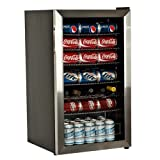 EdgeStar 103 Can and 5 Bottle Eccentric Cool Beverage Cooler - Stainless Steel